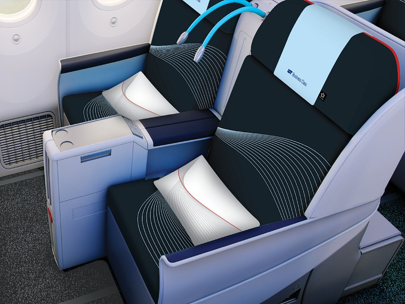 lot new business class seats