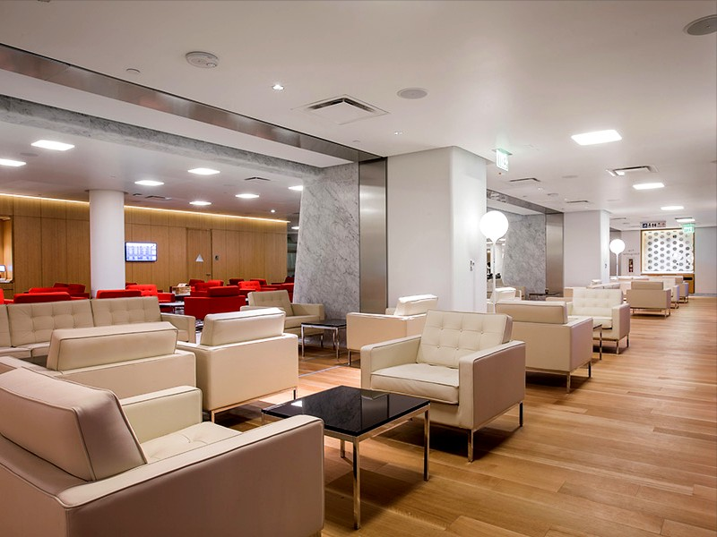 Qantas First Class Lounge Los Angeles fully open