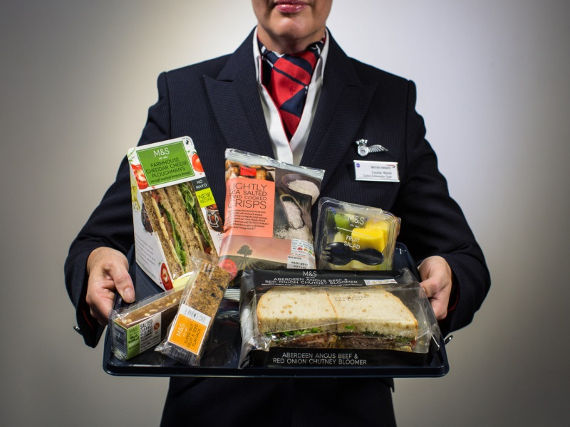 british airways food economy