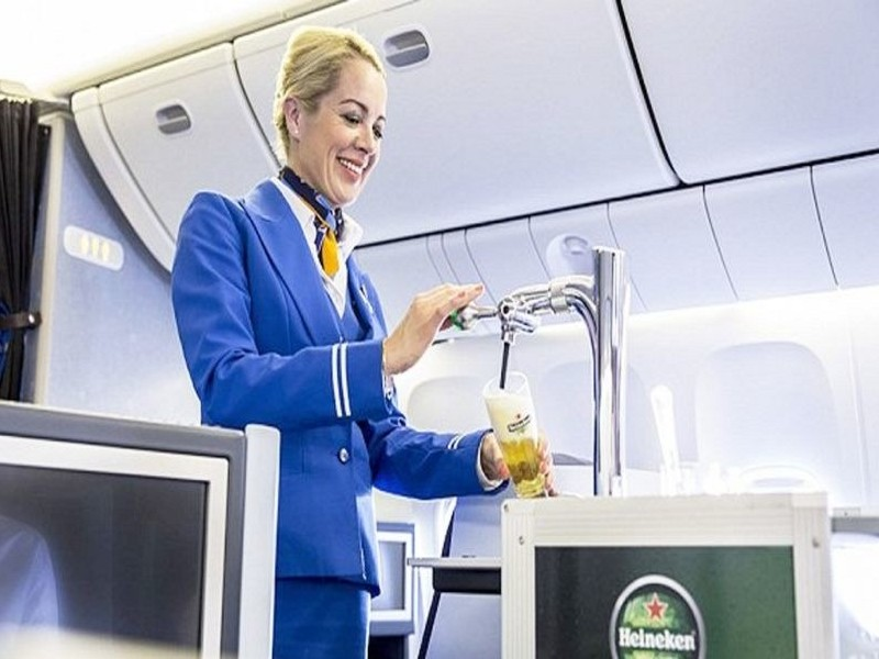 Klm Serves Draft Beer In Flight