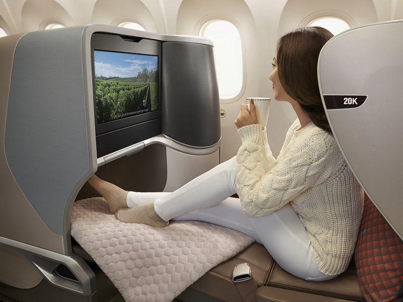 Singapore Airlines A350 Amp 787 Business Class Seat