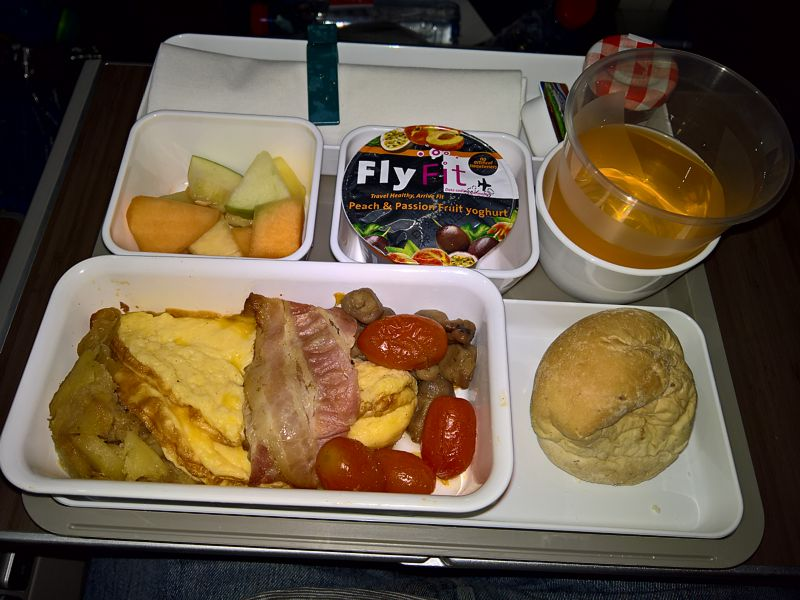 Cathay Pacific Premium Economy inflight meal AMS-HKG Jan 2019