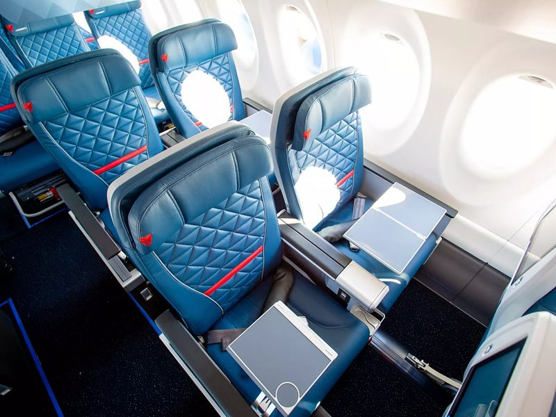 New Delta Air Lines First Class